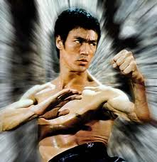 Bruce Lee in action from 'Enter the Dragon' (1973)
