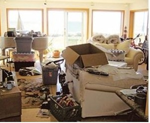 What your living room could end up looking like while searching for that lottery ticket. (Photo: NeatFreakMommy.com, Nov. 21, 2013).