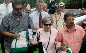 Powerball winner Gloria Mackenzie, 84, leaves the lottery office after claiming her lottery winnings. (Photo: Steve Cannon, AP, June 5, 2013)