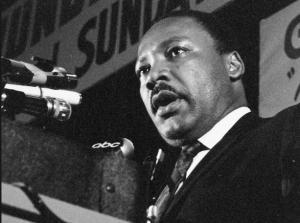 Dr. King gives his speech 'I've Been to the Mountaintop' in Memphis the day before he was assassinated. (Photo: Archie E. Allen, April 3, 1968)